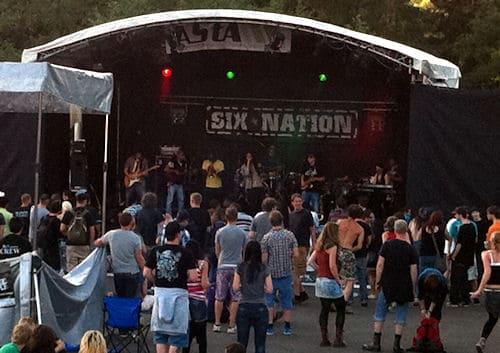 Green-Hill Festival am UCB Six Nation