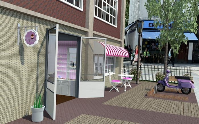 Cupcake Store C4D