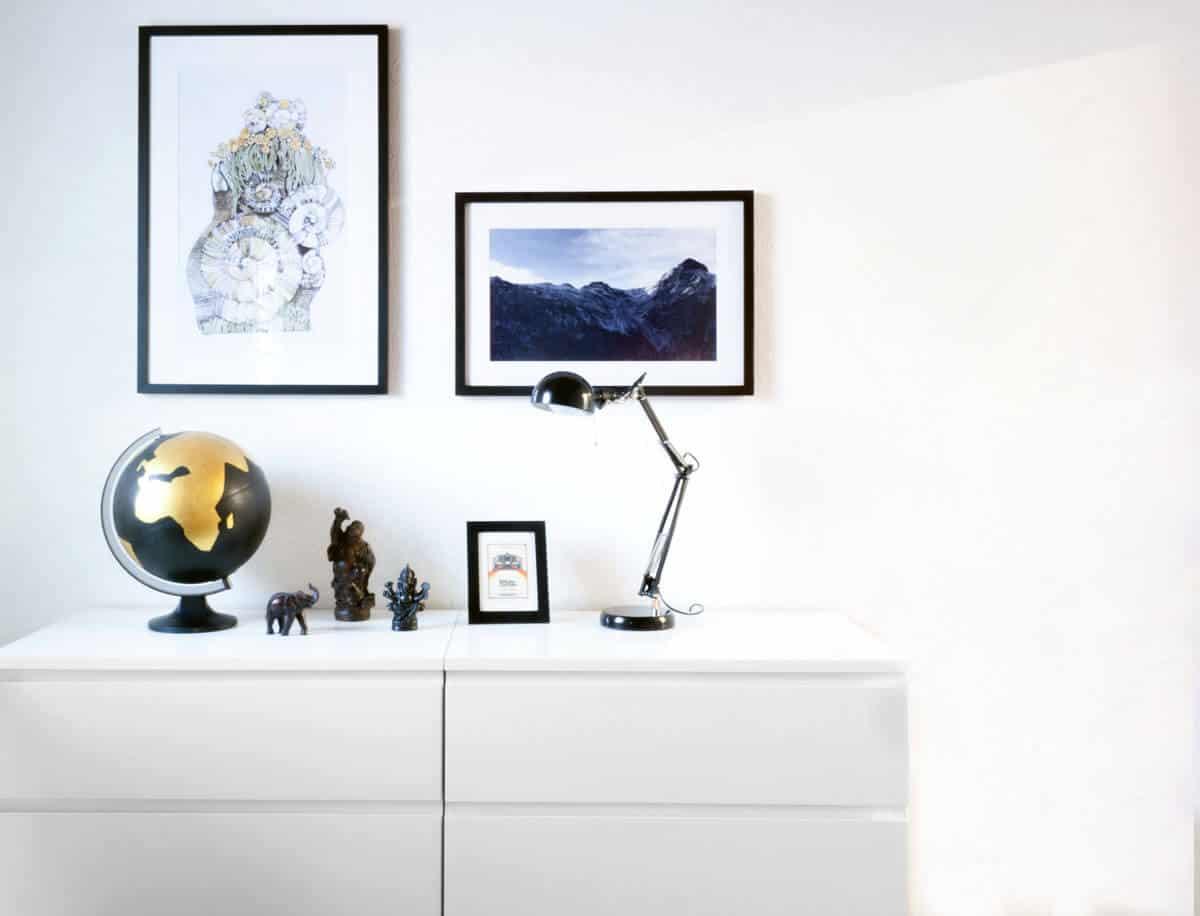 Wohnzimmer SW Deko
