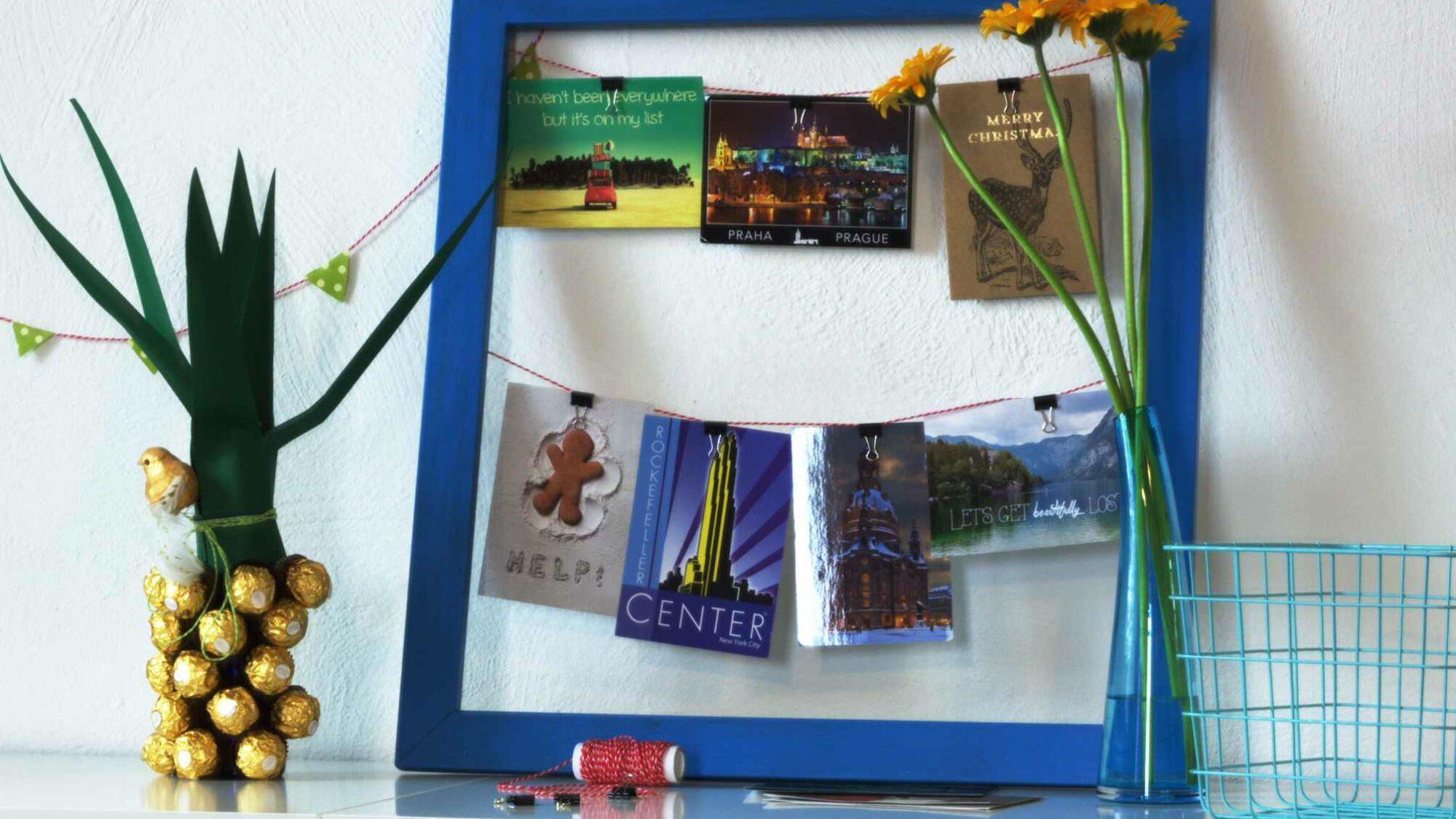 DIY Postkarten und Fotos aufhängen