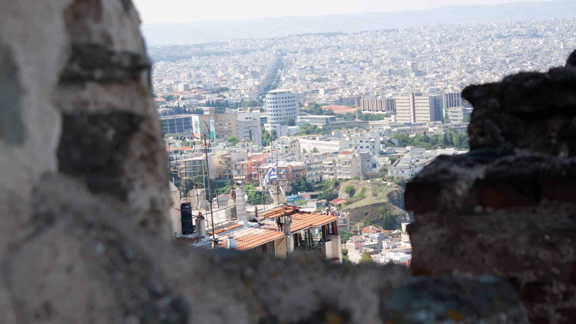 Sicht auf die Stadt Thessaloniki