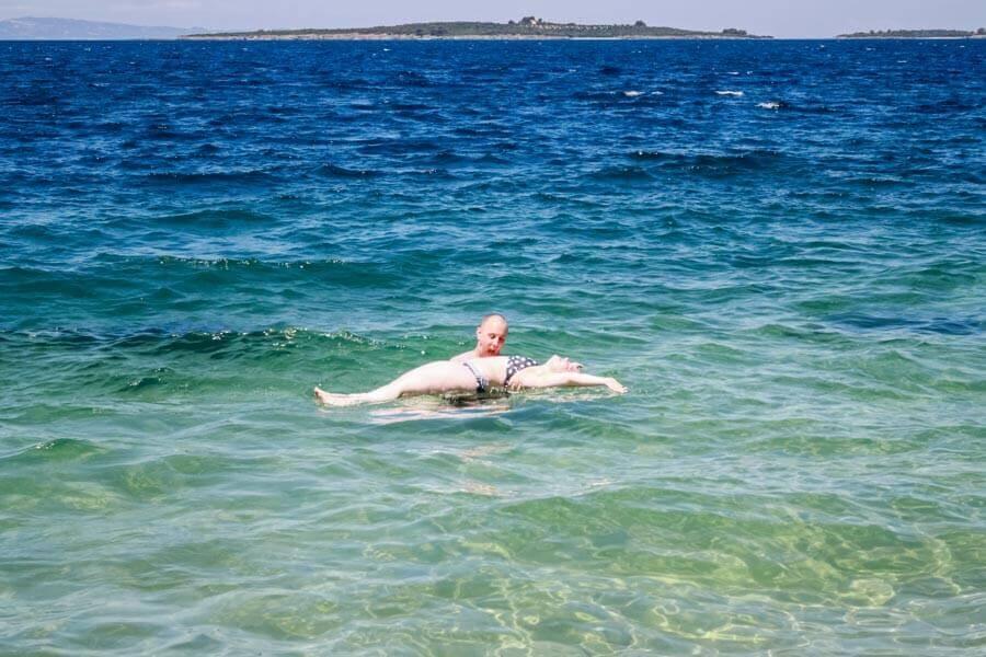 Chillen im Meer