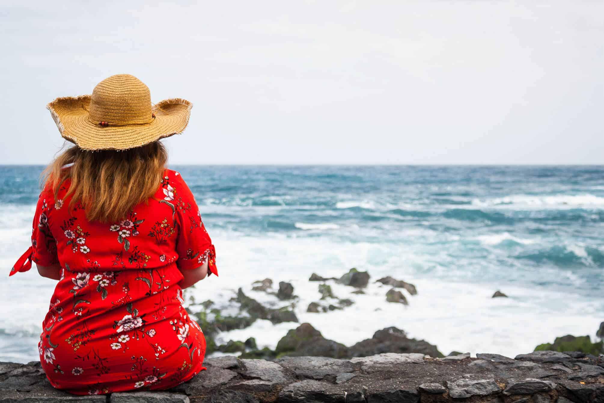 Blick auf die Wellen