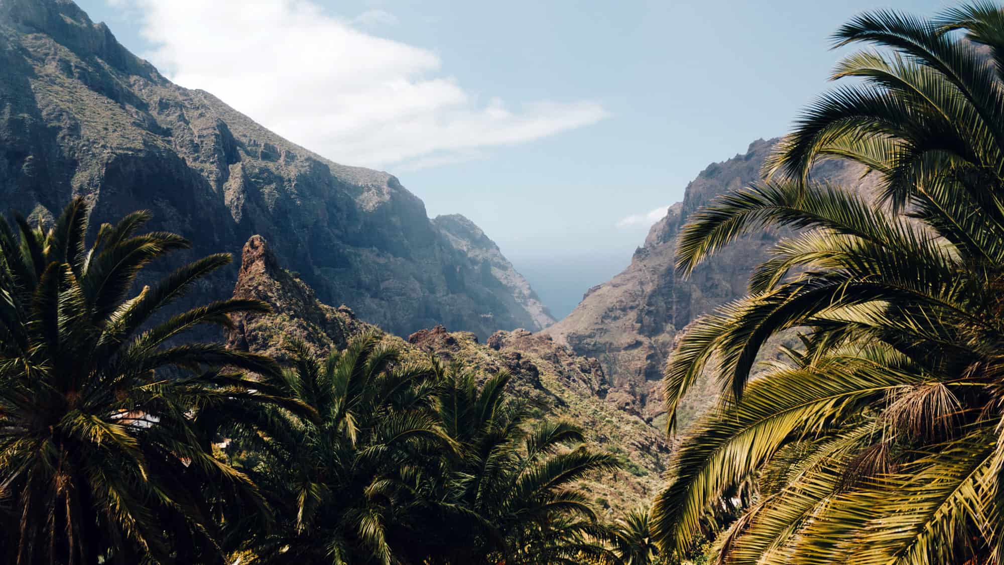 Blick auf Dorf Masca auf der Insel Teneriffa