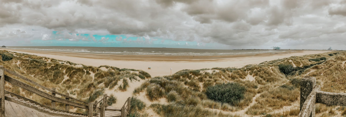 Blankenberge Strand Panorama mit Dünen