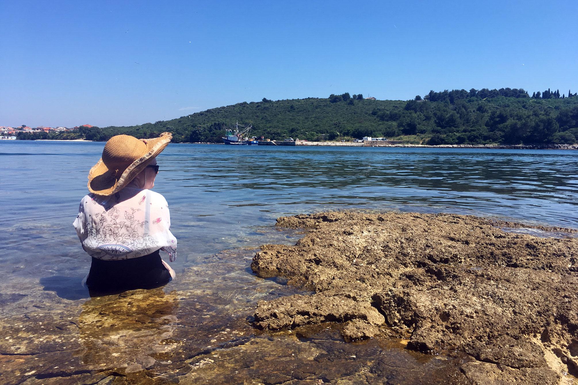 Banjole Blick aufs Meer