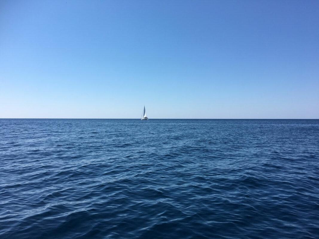 offenes weites Meer Kroatien